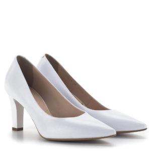 Fehér Bioeco magassarkú cipő 8 centis sarokkal, menyasszonyoknak is 1