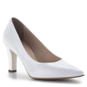 Fehér Bioeco magassarkú cipő 8 centis sarokkal, menyasszonyoknak is 2