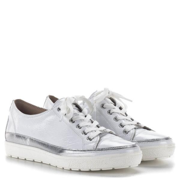 Caprice fehér fűzős női tornacipő lakk bőrből - Caprice 9-23654-24 122