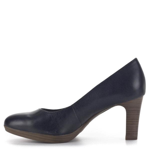 Tamaris platformos magassarkú cipő, sötétkék - Tamaris 1-22410-24 805