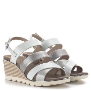 Telitalpú Caprice női szandál, fehér-ezüst szín - Caprice 9-28708-24 943