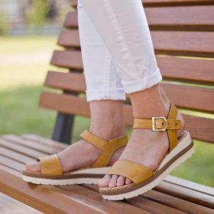 Tamaris szandál sárga színben - Tamaris 1-28222-24 602