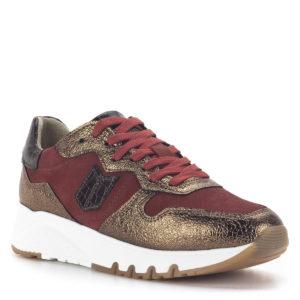 Tamaris női sneakers kombinált színben - Bronz-piros kombinált Tamaris női sneakers cipő platformos talppal - Tamaris 1-23752-25 914