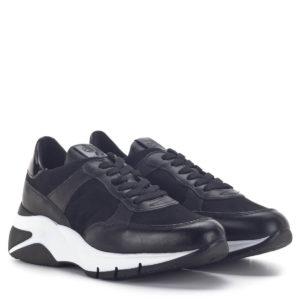 Platformos Tamaris sneakers cipő fekete színben, kivehető talpbéléssel - Tamaris 1-23782-25 011