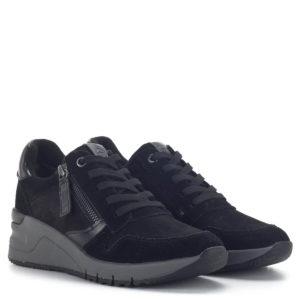 Fekete Tamaris fűzős sportcipő - Tamaris 1-23702-25 098