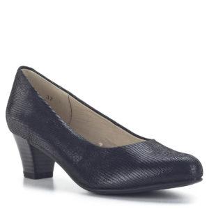 Caprice magassarkú cipő fekete mintás bőrből - Caprice 9-22306-22 010