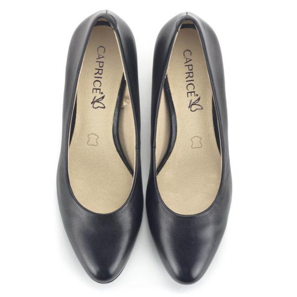 Caprice magassarkú cipő fekete színben - Caprice 9-22306-22 022
