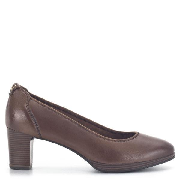 Barna platformos Tamaris magassarkú cipő ANTIShokk sarokkal, Touch It béléssel, F 1/2 WIDE szélességű talppal - Tamaris 1-22446-25 306